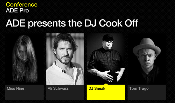 DJ Sneak - ADE cook-off 2013