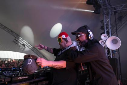 DJ Sneak Electric Frog and Pressure Riverside Festival